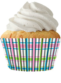Pastel Plaid Cupcake baking cups