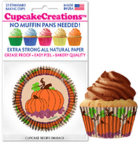 cupcake paper wrappers 9128 Pumpkins