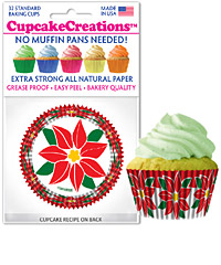 cupcake paper wrappers 9134 Poinsettias