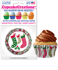 cupcake paper wrappers 9135 Christmas Socks