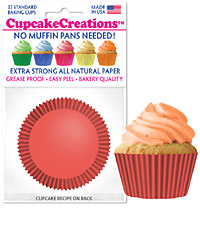 cupcake paper wrappers 9148 coral