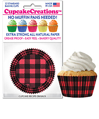 cupcake paper wrappers 9170 Buffalo Plaid