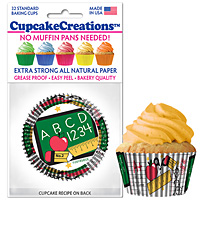 cupcake paper wrappers 9172 School Days