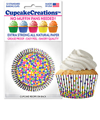 cupcake paper wrappers 9175 Fun Dots